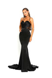 portia and scarlett portia 1977 black sexy bodycon fit evening dress with sheer panels mermaid train prom dress from shaide boutique uk side