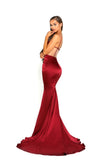 portia and scarlett portia 1977 sexy red bodycon fit evening dress with sheer panels mermaid train prom dress from shaide boutique uk back