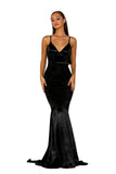 portia and scarlett ps2003 black silky prom dress shiran at shaide boutique uk london