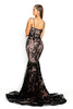 portia and scarlett ps2009 black corset mermaid bodycon prom dress back