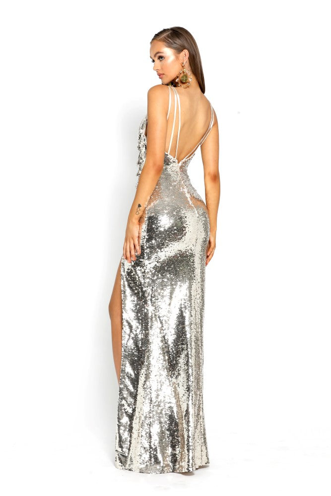 portia and scarlett gigi gold sequin prom dress shaide boutique uk ps2024