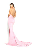 portia and scarlett tripp ps2055 halter backless bodycon pink prom dress at shaide boutique uk online back