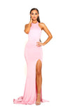 portia and scarlett tripp ps2055 halter backless bodycon pink prom dress at shaide boutique uk online