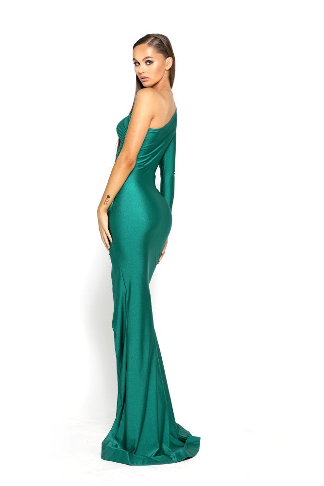 portia and scarlett ps2068 emerald green black tie dress next day delivery at shaide boutique uk