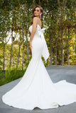 Portia & Scarlett PS21005 ivory strapless sweetheart bust evening gown with bow back detail at shaide boutique uk