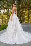Portia & Scarlett PS21027 ivory princess style evening gown with boned bust at shaide boutique uk back