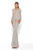 Portia & Scarlett Modest Lascelle Long Sleeve Evening Gown