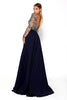 Portia & Scarlett Princess Navy long sleeved formal gown