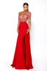 Portia & Scarlett Princess Red Long sleeved Evening Gown