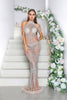 portia and scarlett erin luxury collection shimmering sheer sequin evening dress