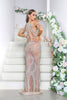 portia and scarlett erin luxury collection shimmering sheer sequin special occasion dress