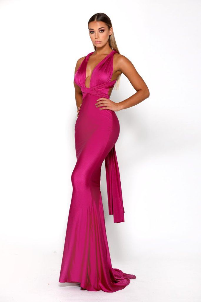 portia and scarlett liliana plum prom dress