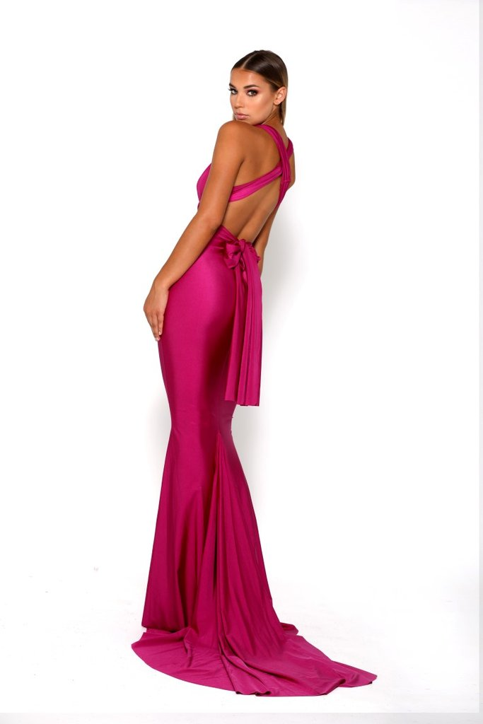 portia and scarlett liliana plum special occassion dress