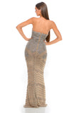 Portia & Scarlett PS3001 - CAP D'AIL strapless beaded engagement party dress at shaide boutique uk back