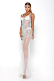portia and scarlett sfb silver sequin prom dress