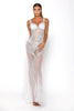 portia and scarlett sfb silver sequin evening dress