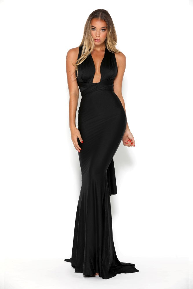 portia and scarlett liliana sexy fit bodycon black prom dress