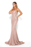portia and scarlett athena rose gold sweetheart bodycon sexy  prom dress shaide boutique uk side