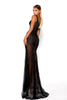 Portia & Scarlett Matrix Black Sequin Evening Gown fishtail evening gown