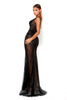 Portia & Scarlett Matrix Black Sequin Evening Gown prom dress