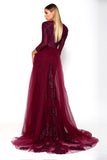 Portia & Scarlett Laurent Plum Long Sleeve wedding dress