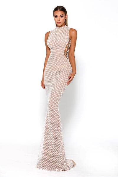 Portia & Scarlett Zachery White Evening Gown