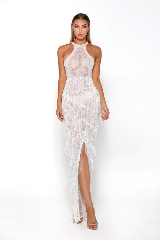 Portia and Scarlett Maya Sheer Ruffle wedding dress