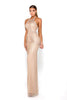 Portia & Scarlett Gabrielle Rose Gold Sequin Sleeveless Evening Gown
