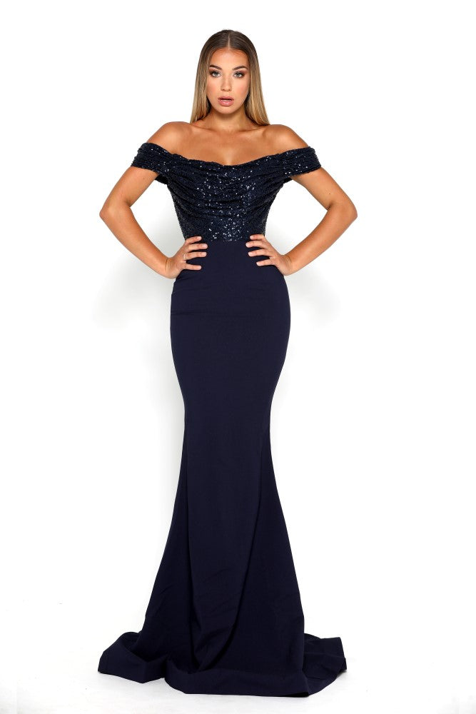 portia and scarlett mermaid navy blue strapless bodycon sequin sexy bridesmaids dress uk