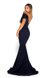 portia and scarlett mermaid navy blue strapless bodycon sequin sexy bridesmaids dress uk side