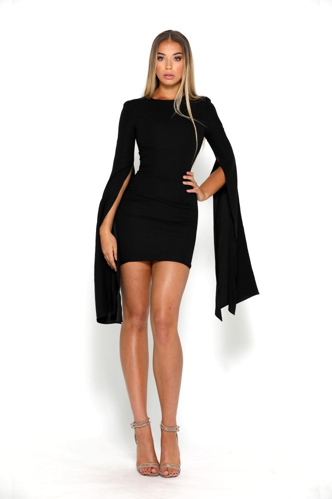 portia and scarlett anna mini dress with long sleeves