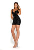 portia and scarlett danny sexy cut out black sequin backless mini dress