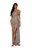 portia and scarlett uk iconic PS4058C SILVER NUDE grecian style crystal embellished evening dress at shaide boutique uk
