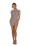 portia and scarlett anoushka crystal couture silver mini dress at shaide boutique uk next day delivery