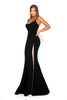 Portia and Scarlett Indira - Black long sexy formal gown