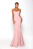 Portia and Scarlett Indira long sexy Pink bridesmaids dress bodycon fit