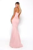Portia and Scarlett Indira long sexy Pink bodycon formal dress