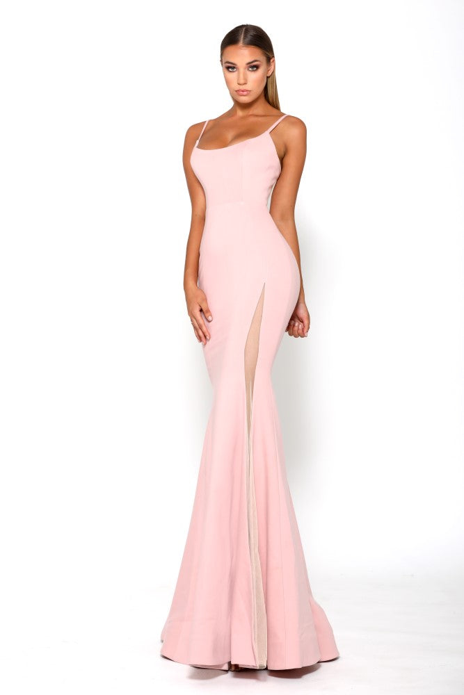 Portia and Scarlett Indira long sexy pink evening dress