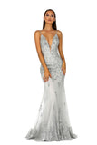 portia and scarlett ps5005 silver evening gown at shaide boutique uk prom