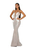 Portia & Scarlett PS5013 - ZERMATT elegant long black tie evening dress SHAIDE boutique uk side