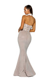 Portia & Scarlett PS5014 - MEGEVE choker style summer black tie dress at shaide uk back view