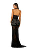 Portia & Scarlett PS5018 JARDIN EXOTIQUE black sexy halterneck black tie evening dress at shaide boutique uk back