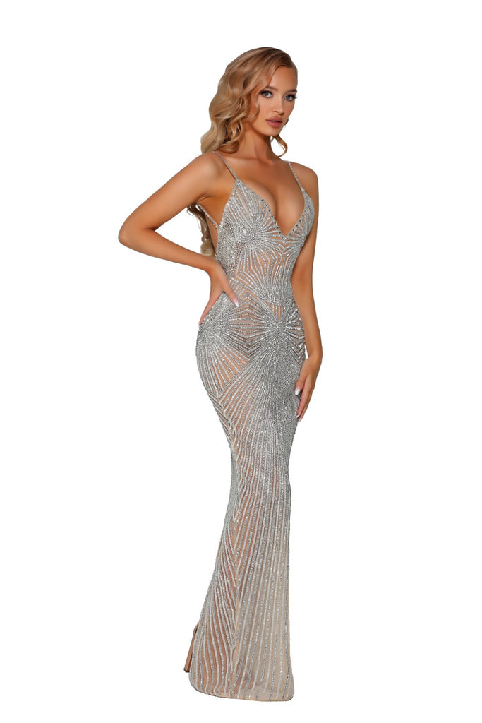 portia and scarlett uk crystal couture floorlength beaded evening dress for special occasion events at shaide boutique online retailer with free next day uk delivery front