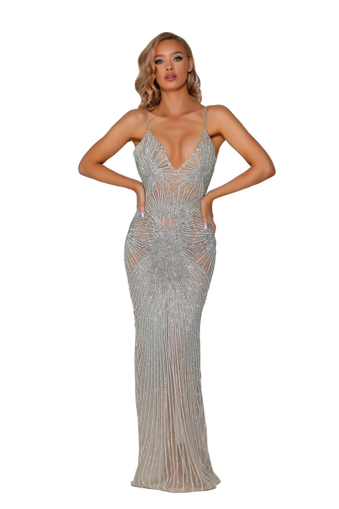 portia and scarlett uk crystal couture floorlength beaded evening dress for special occasion events at shaide boutique online retailer with free next day uk delivery