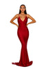 Portia & Scarlett PS5029 - CLIOS RED black tie prom dress at shaide boutique uk  front view
