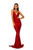 Portia & Scarlett PS5029 - CLIOS RED black tie prom dress at shaide boutique uk