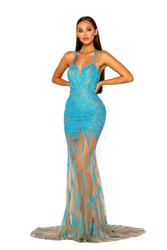 Portia & Scarlett PS5056 - AQUA AZURA summer wedding evening dress at shaide boutique uk