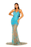 Portia & Scarlett PS5056 - AQUA AZURA summer wedding evening dress at shaide boutique uk front