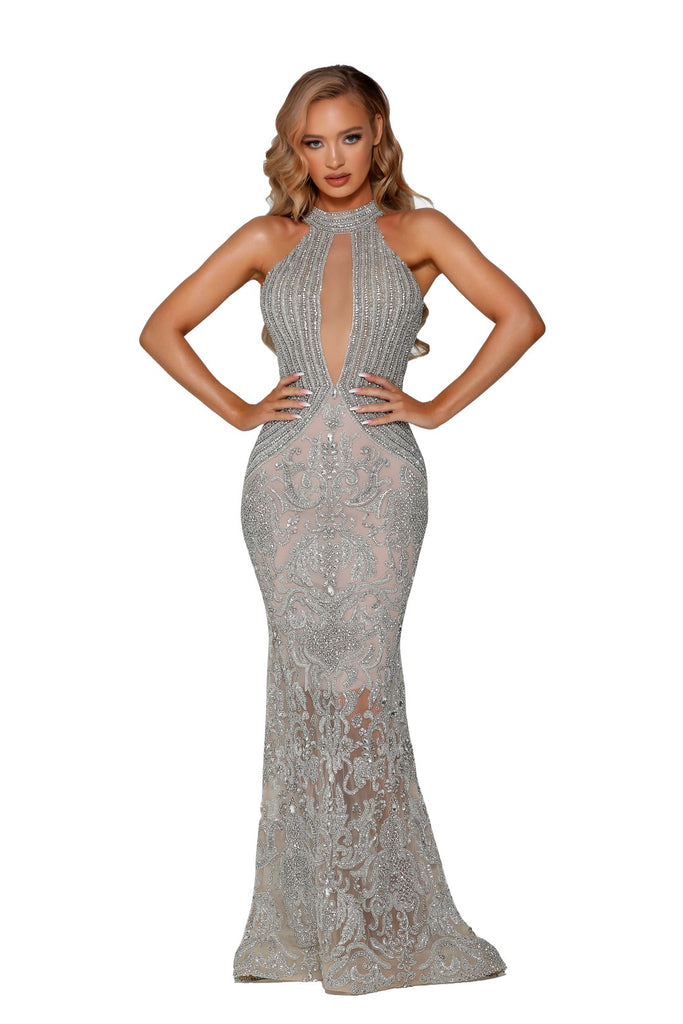 portia and scarlett uk crystal couture special occasion bead embellished dresses at shaide boutique uk next day online PS4006C
