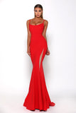 Portia and Scarlett Indira Red long sexy bodycon evening dress